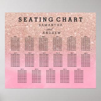 Póster Carta color de rosa 17 del asiento de la acuarela
