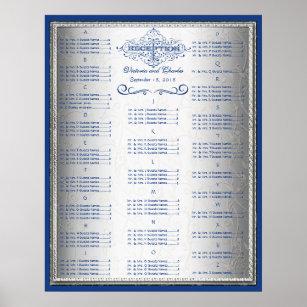 Póster Carta del asiento de la huésped de la bodas de
