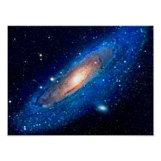 Póster Cartel de la galaxia del Andromeda
