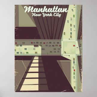 Póster Cartel del viaje de Manhattan New York City
