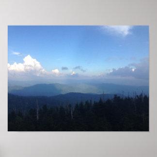 Póster Cartel Great Smoky Mountains de la cordillera