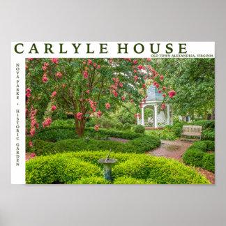 Póster Casa de Carlyle y jardín histórico