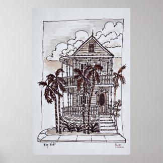 Póster Casa el | Key West, la Florida de la concha del