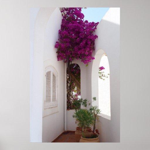 Póster casa mediterránea