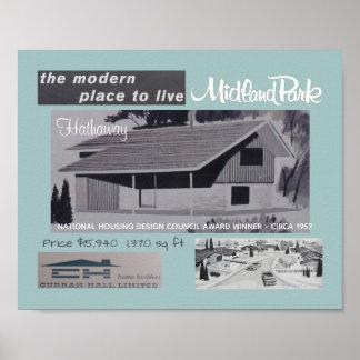 Póster Casa moderna de los mediados de siglo del ganador