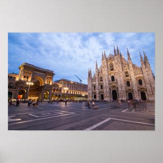 Póster Catedral de Milano, Italia