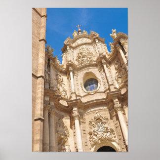 Póster Catedral en Valencia, España