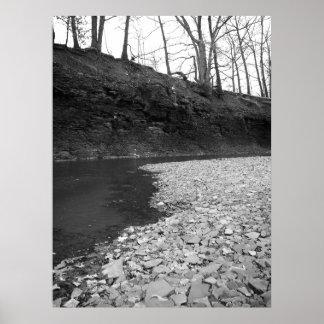 Póster Cauce del río rocoso