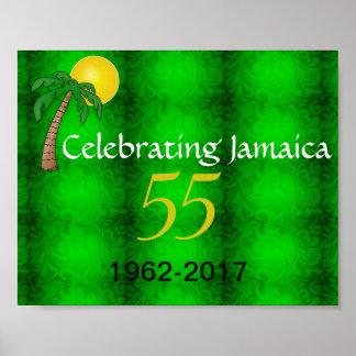 Póster Celebración del poster de Jamaica 55.a