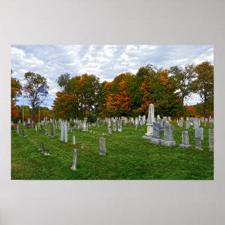 Póster Cementerio viejo de la yarda, Stowe, Vermont