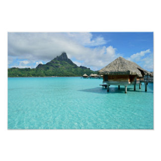 Póster Centro turístico de Overwater en el poster de Bora
