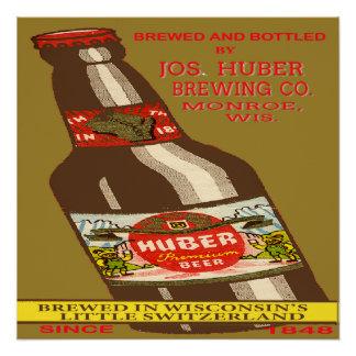 Póster Cerveza de Huber