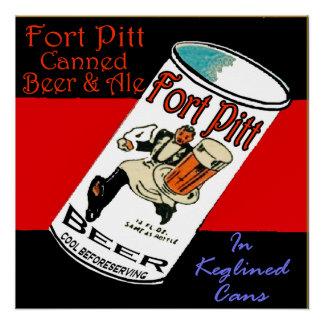 Póster Cerveza de Pitt del fuerte