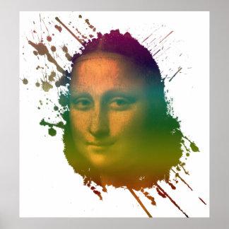 Póster Chapoteo de Mona Lisa