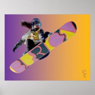 Póster Chica del Snowboarder