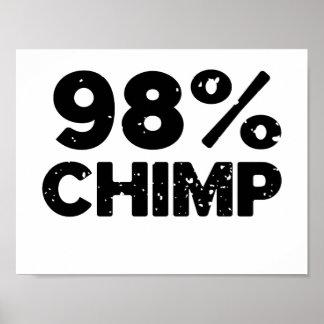 Póster Chimpancé 98