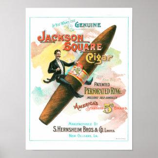 Póster Cigarro cuadrado de Jackson