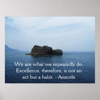 Póster Cita de la excelencia de Aristóteles
