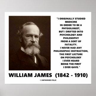 Póster Cita de William James de la filosofía de la