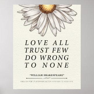 Póster Cita de William Shakespeare