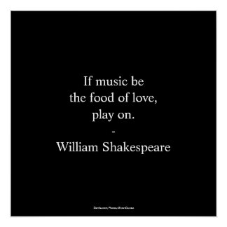 Póster Cita de William Shakespeare - amor