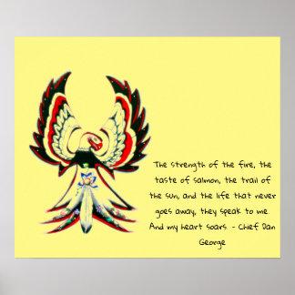 Póster Cita inspirada de Anishinaabe Thunderbird