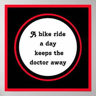 Póster cita inspirada para el ciclista