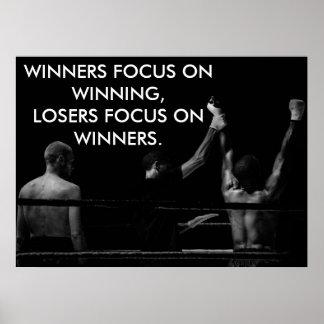 Póster Cita que gana de motivación del ring de boxeo