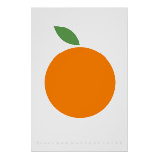 Póster Cita retra anaranjada de los años 70 de los años
