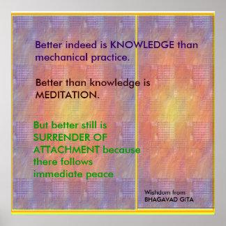 Póster Citas de la SABIDURÍA de Bhagavad Gita