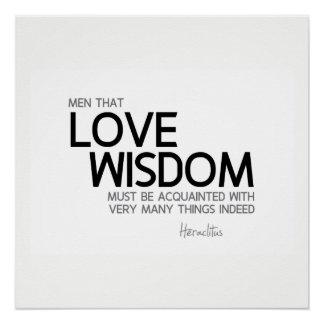 Póster CITAS: Heraclitus: Sabiduría del amor