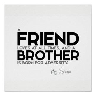 Póster CITAS: Rey Solomon: Un amigo ama siempre