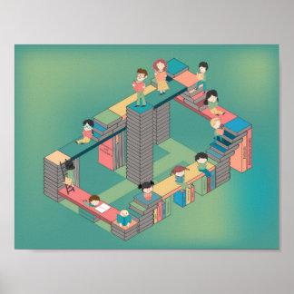 Póster Ciudad de los libros para la educación de los