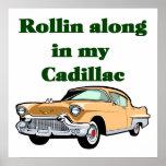 Poster clásico de Cadillac de los años 50