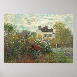 Póster Claude Monet el   el jardín del artista en