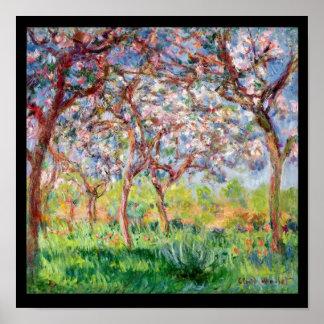 Póster Claude Monet el | Printemps un Giverny, 1903