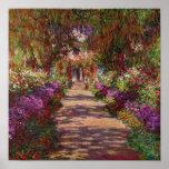 Póster Claude Monet el | un camino en el jardín de Monet