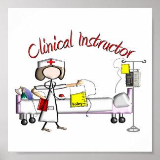 Poster clínico del arte del instructor - estilo