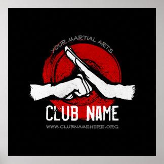 Póster Club de los artes marciales