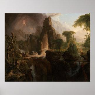 Póster Col de Thomas - expulsión del jardín de Eden