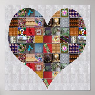 Póster Collage artístico del CORAZÓN que bendice NVN521