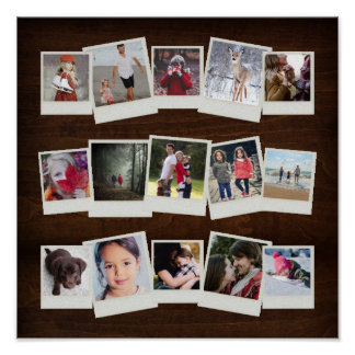 Póster Collage inmediato del regalo de la foto de 15