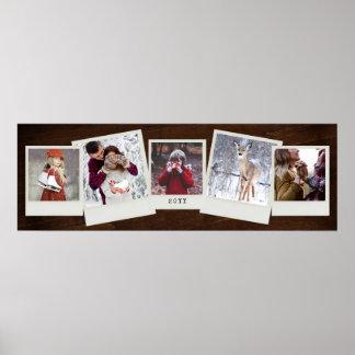 Póster Collage inmediato del regalo de la foto de 5 fotos