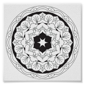 Póster Color-Su-Propia mandala floral 060517_4