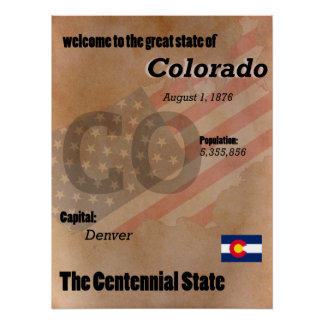 Póster Colorado la obra clásica centenaria del estado