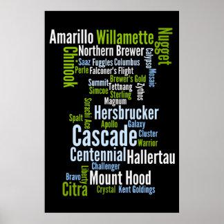 Poster coloreado de las variedades del salto póster