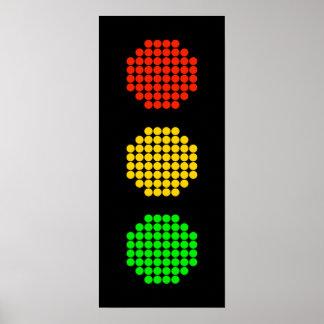 Póster Colores de la luz de parada del punto