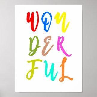 Poster colorido de la impresión del arte de la