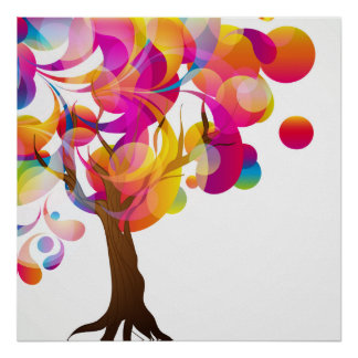 Poster colorido del árbol