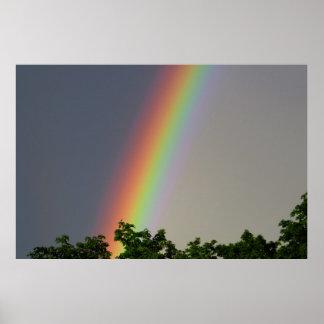 Poster colorido del arco iris póster